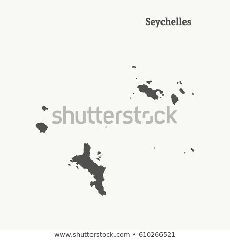Africa map with Seychelles Stock photo © Ustofre9