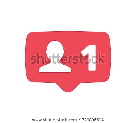social media add friend like design Stock photo © burakowski