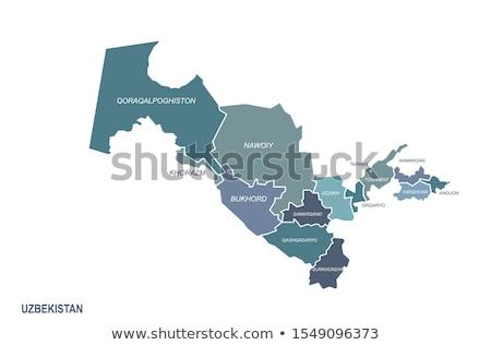 Asia Map with Uzbekistan Stock photo © Ustofre9