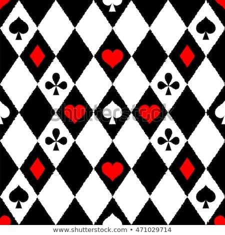 Vintage chessboard card, vector illustration  Stock photo © carodi