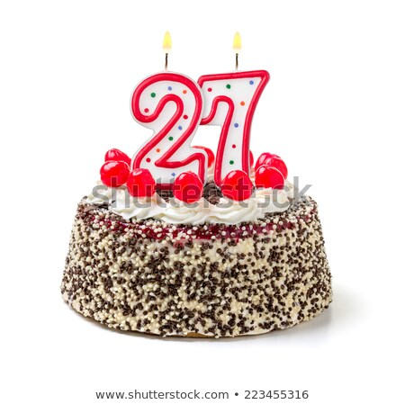 Burning birthday candles number 27 Stock photo © Zerbor