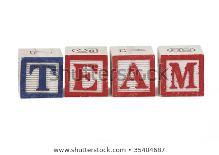 Team - Colored Childrens Alphabet Blocks. Stock photo © tashatuvango