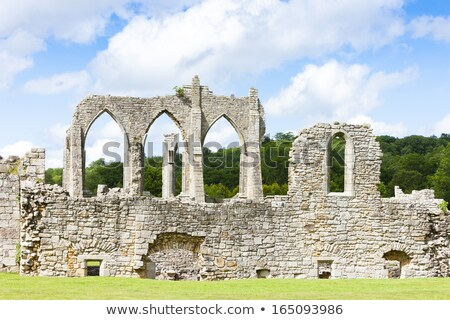ruins of Bayham Abbey, Kent, England Stock photo © phbcz