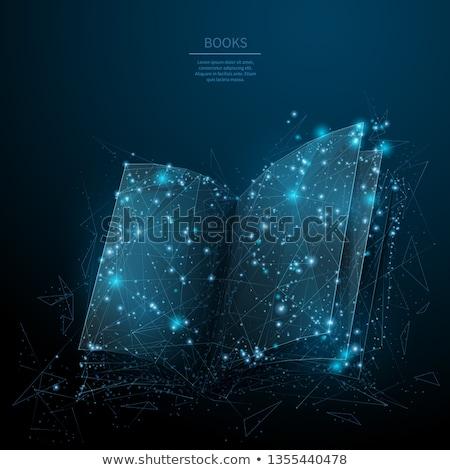 informazioni · icona · buio · blu · isolato · bianco - foto d'archivio © zeffss