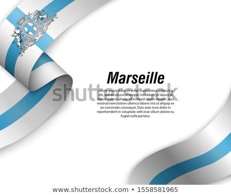 Marseille zászló nagy méret város illusztráció Stock fotó © tony4urban