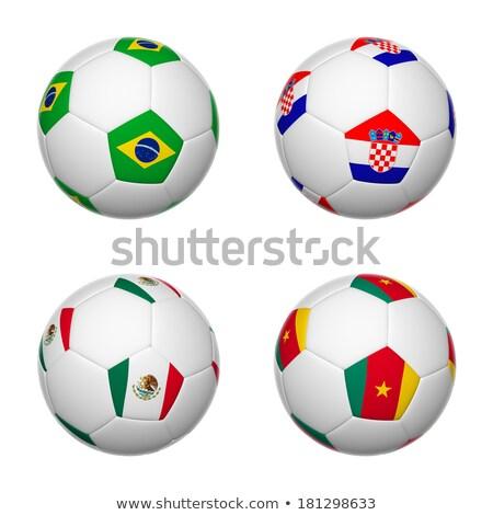 サッカーボール · カメルーン · フラグ · ピッチ · サッカー · 世界 - ストックフォト © stevanovicigor
