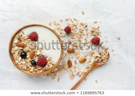 bes · müsli · voedsel · ontbijt · room · dieet - stockfoto © M-studio