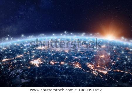 Felhő információ internet világ égbolt víz Stock fotó © vizarch