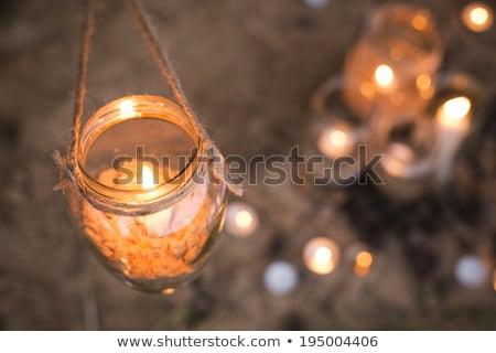 gyertya · citromsárga · művészet · textúra · fal · keret - stock fotó © nejron