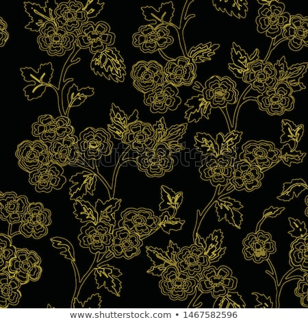 retro romantic linear pattern with dark background stock photo © kari-njakabu