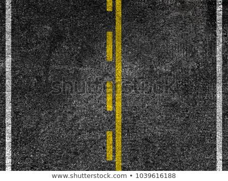 Giallo strisce strada nero asfalto autostrada Foto d'archivio © stevanovicigor