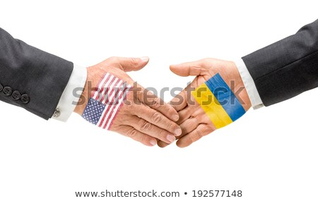 USA and Ukraine reach out their hands Stock photo © Zerbor
