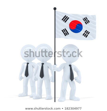 Business team with flag of South Korea. Isolated. Contains clipping path Stock photo © Kirill_M