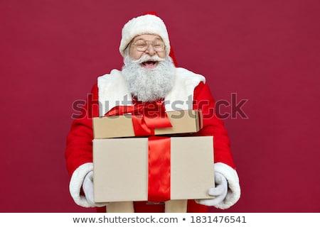 Дед Мороз женщину предлагающий шкатулке Сток-фото © jaycriss