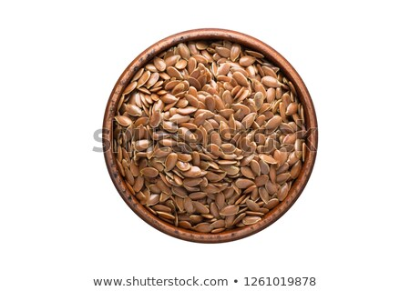 Glass cup  with flax seed Stock photo © nessokv