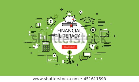 Financial Literacy Concept in Flat Design. Stock photo © tashatuvango