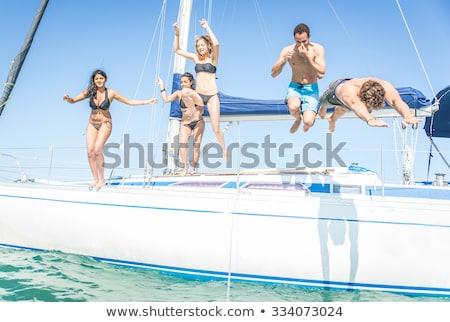 Luxe jacht hot zomer dag water Stockfoto © Lizard