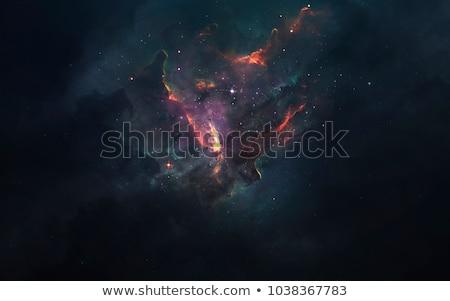 Fantázia mély űr csillagköd bolygó csillagok Stock fotó © designsstock