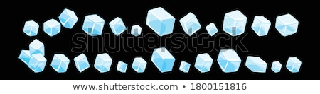Melting ice cube with water dew Stock photo © karandaev