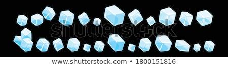 cubo · de · hielo · primer · plano · hielo · cuadro · azul - foto stock © karandaev