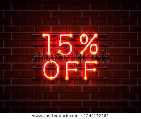 15 por cento vermelho quinze número branco Foto stock © make