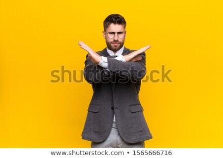boos · zakenman · vervormd · cijfer · business · model - stockfoto © jiri_miklo