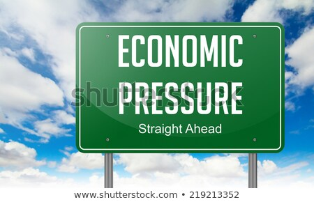 political pressure on highway signpost stock photo © tashatuvango