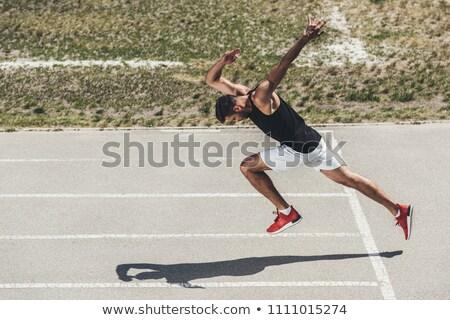 Sprinter start position Stock photo © BrunoWeltmann