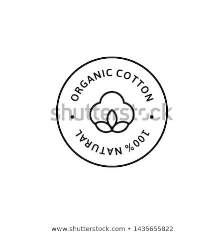 organic cotton vector set stock photo © beaubelle