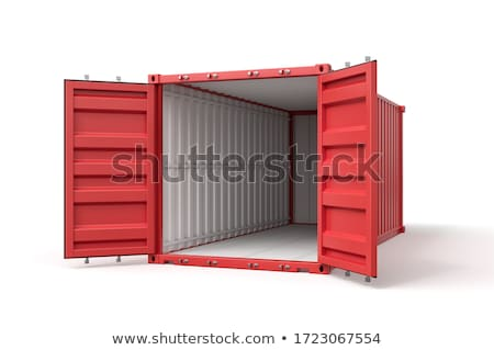 Red Container in 3D Isolated on White. Stock photo © tashatuvango