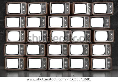 Collage isoliert weiß Fernsehen Stock foto © gemenacom