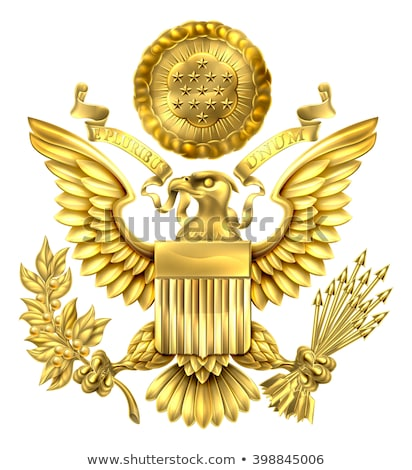 Stock photo: United States gold presidental seal