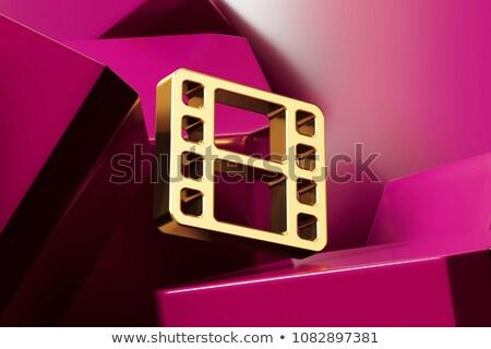 пурпурный Film Reel икона изолированный белый Сток-фото © cidepix