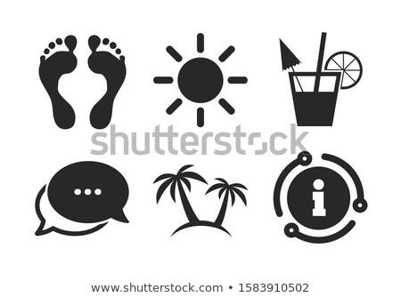 Foto stock: Palms · ícone · vidro · botões · sol · projeto
