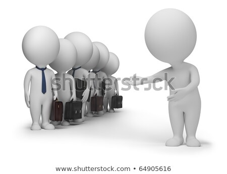 Stock photo: 3d small people - clients