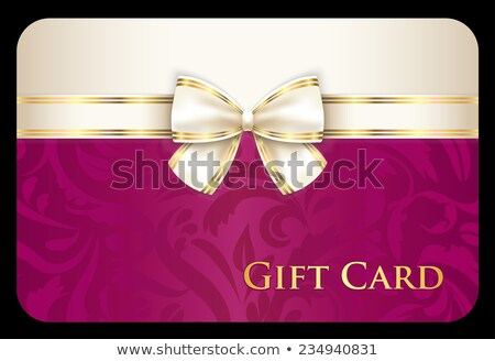 Luxury scarlet gift card with cream diagonal ribbon Stock photo © liliwhite