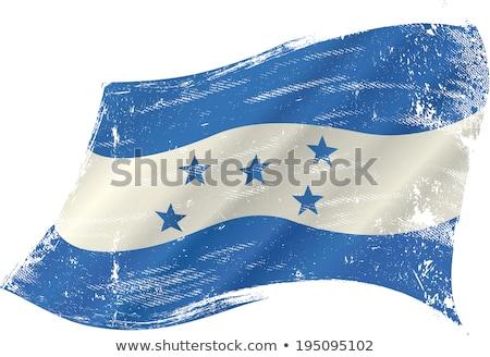 Гондурас · Гранж · флаг · ветер · путешествия · фоны - Сток-фото © tintin75