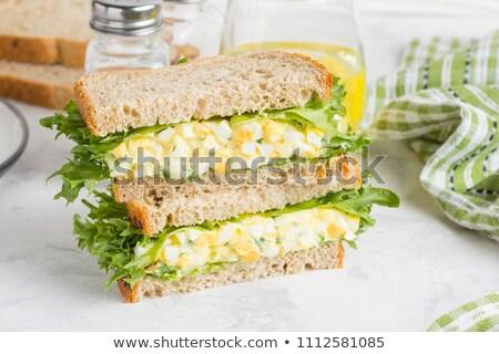 huevo · mayonesa · limón · frescos · cocina · culinario - foto stock © m-studio