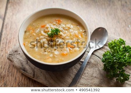 árpa zöldségek vacsora paradicsom mezőgazdaság diéta Stock fotó © M-studio