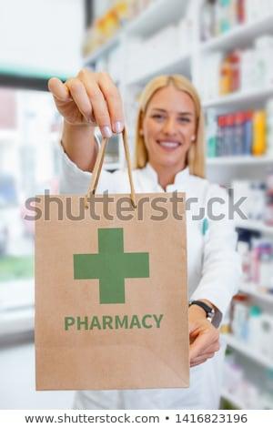 hólyag · orvosi · tabletták · gyógyszeripari · sztetoszkóp · zöld - stock fotó © nobilior