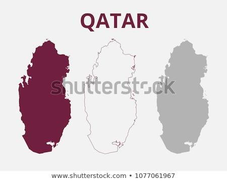 Qatar map Stock photo © mayboro1964