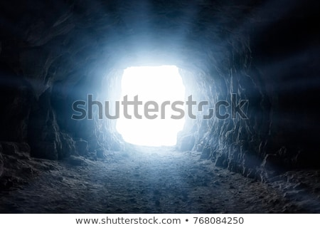 Lighted cave  Stock photo © digoarpi