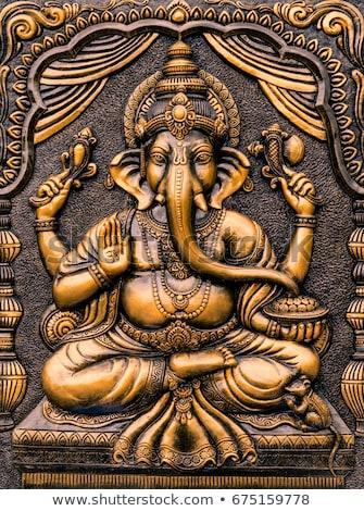 shiva · ídolo · enorme · templo · natureza · azul - foto stock © klinker
