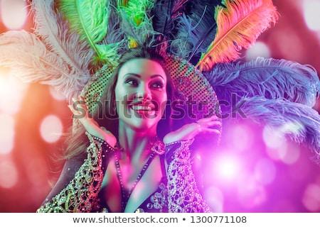Mystérieux danseur chinois fille traditionnel coloré Photo stock © elwynn