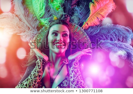 Misterioso dançarina chinês menina tradicional colorido Foto stock © elwynn