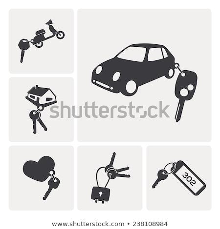 ключевые автомобилей мотоцикле серебро черный обрабатывать Сток-фото © axstokes