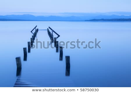 surreal view lake tutzing stock photo © w20er