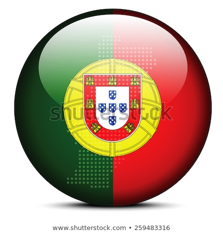 Map with Dot Pattern on flag button of Portuguese Republic Stock photo © Istanbul2009