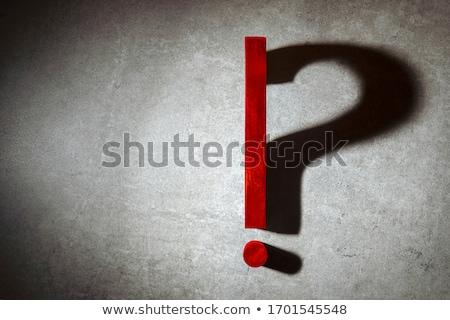 スポットライト 質問 赤 暗い ストックフォト © 3mc