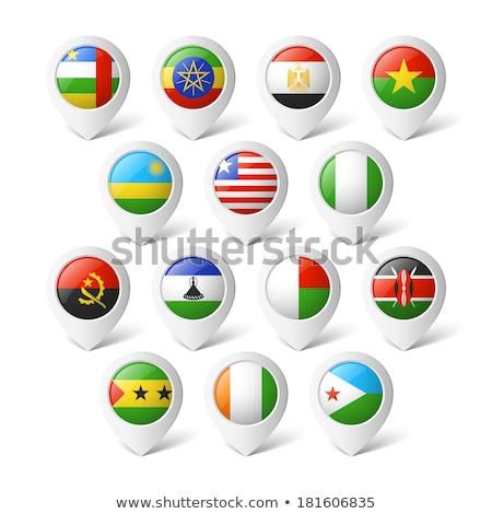 Vlag pin Madagascar geïsoleerd witte Stockfoto © MikhailMishchenko